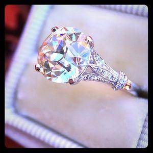 Australian Crystal Silver Ring
